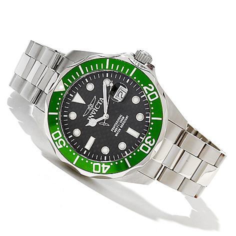 618-310 - Invicta Men's Grand Diver Quartz Stainless Steel Bracelet Watch w/ 3-Slot Dive Case