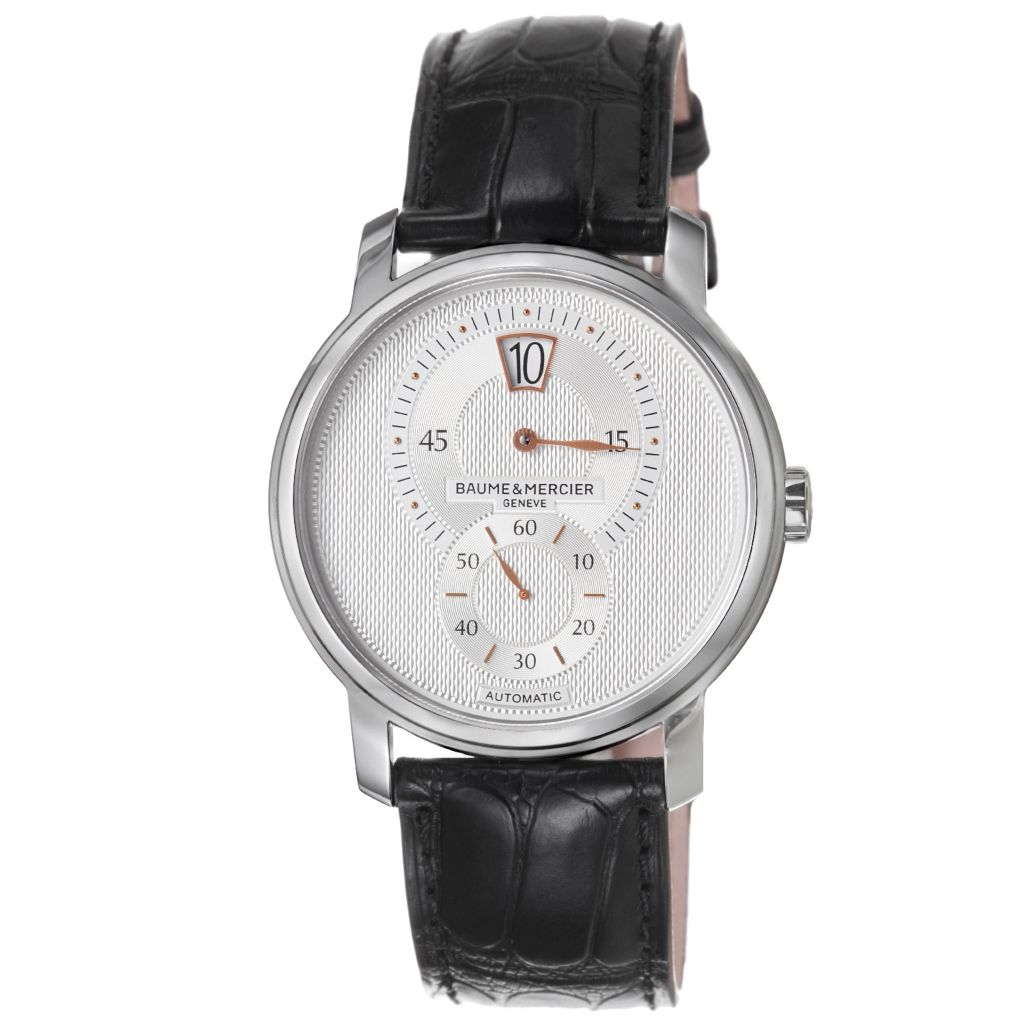 618-371 - Baume & Mercier Men's Classima Executives Swiss Made Automatic Black Leather Strap Watch
