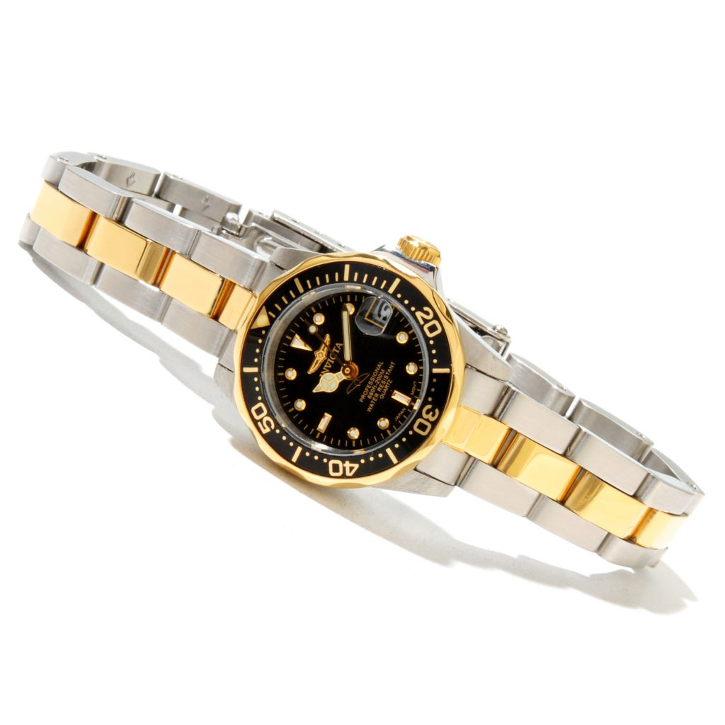 618-405 - Invicta Women's Mini Pro Diver Quartz Two-tone Stainless Steel Bracelet Watch