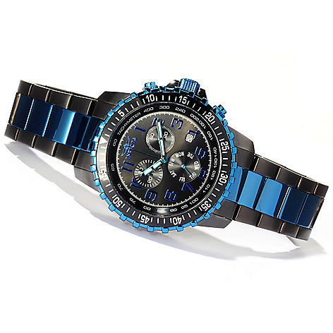 618-452 - Invicta 45mm Specialty Pilot Quartz Chronograph Stainless Steel Bracelet Watch