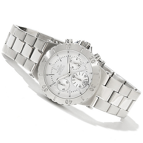 618-496 - Invicta Women's Elegant Ocean Specialty Quartz Chronograph Stainless Steel Bracelet Watch