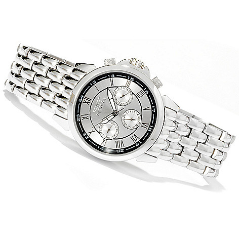 618-509 - Invicta Men's Specialty Quartz GMT Stainless Steel Bracelet Watch