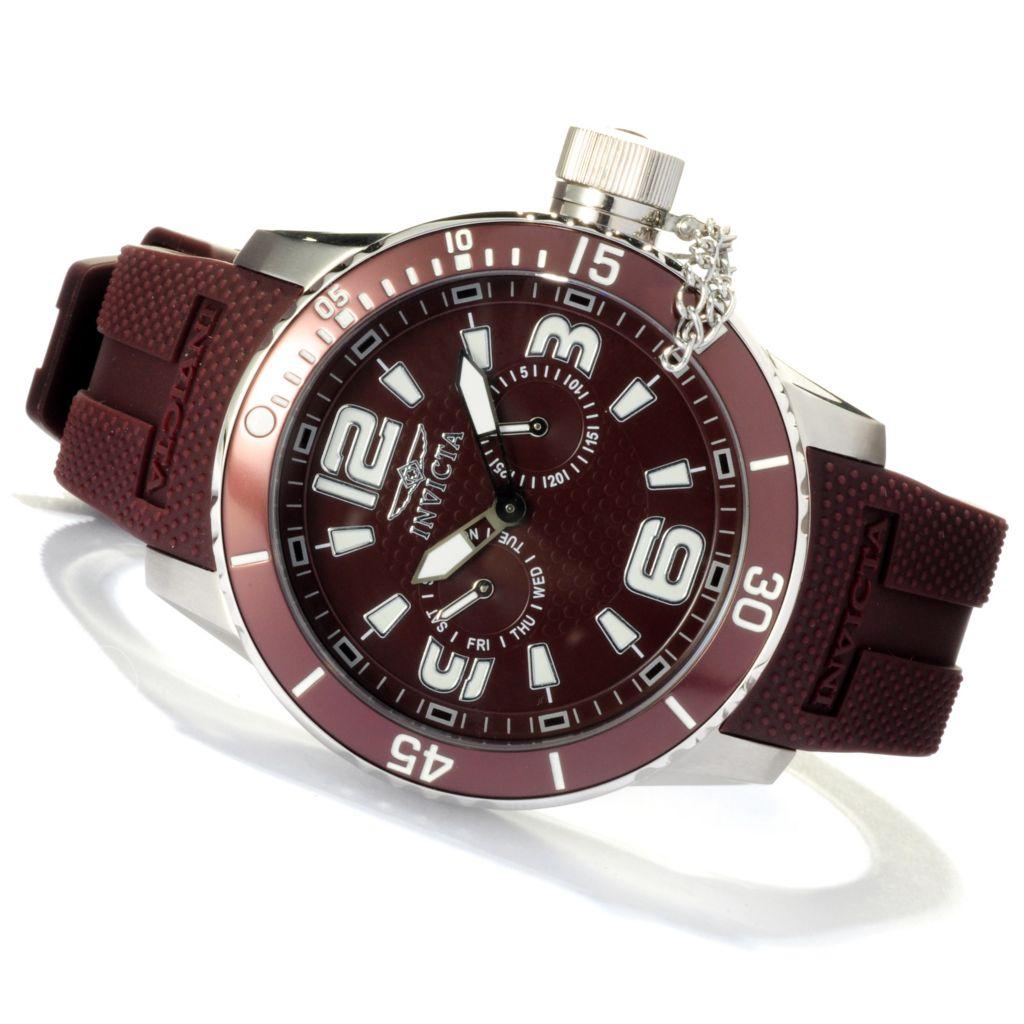 618-530 - Invicta Men's Corduba Diver Quartz Polyurethane Strap Watch w/ Three-Slot Dive Case