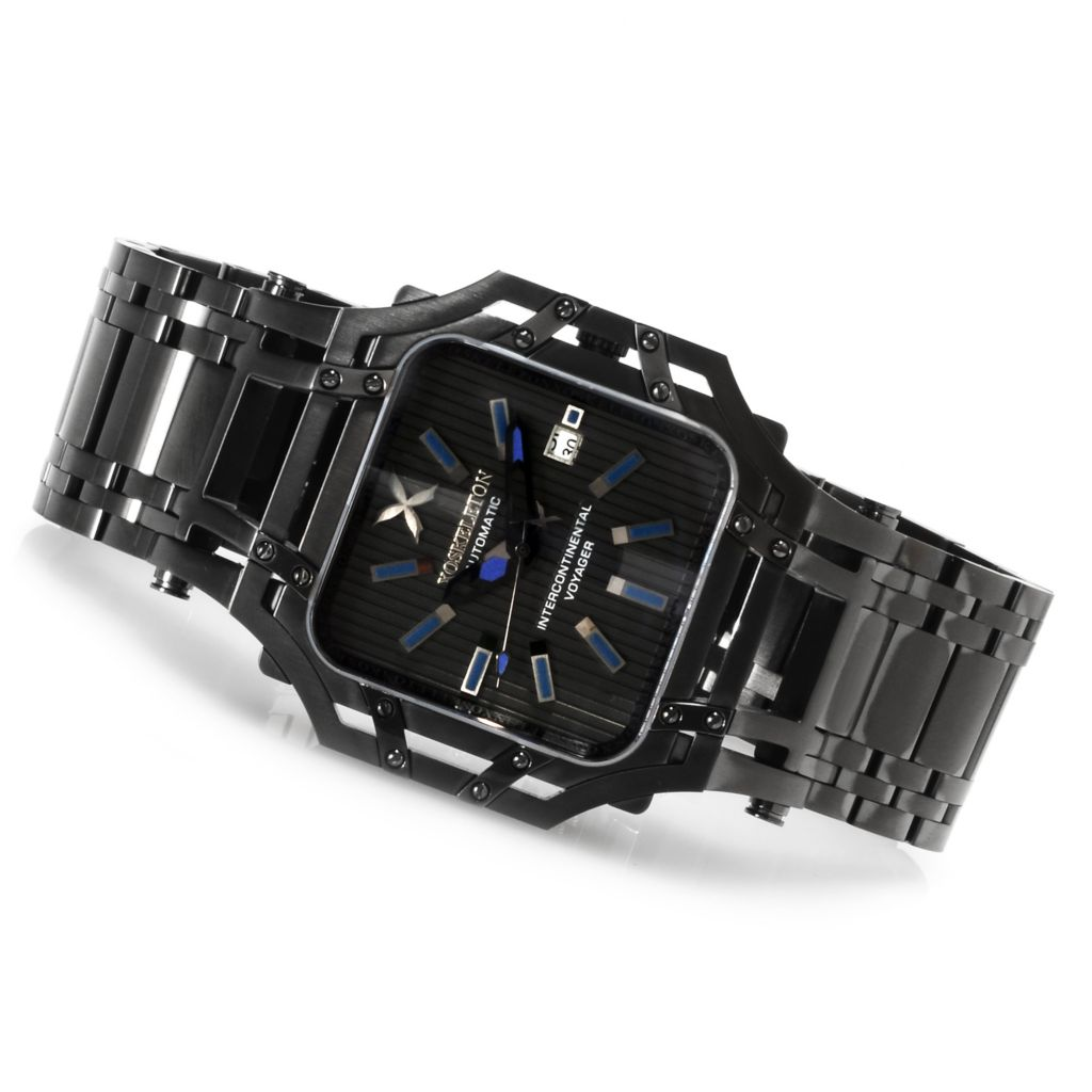 618-595 - XO Skeleton Men's Intercontinental Voyager Automatic Limited Edition Stainless Steel Bracelet Watch