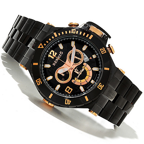 618-627 - Renato Men's Wilde-Beast Diver Swiss Quartz Chronograph Bracelet Watch