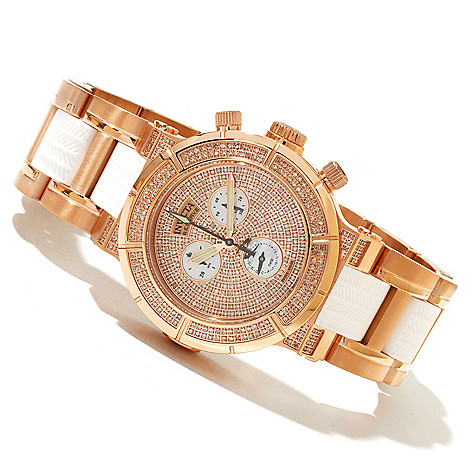 618-675 - Invicta Reserve Women's Ocean Reef Swiss Made Quartz 1.38ctw Diamond Chronograph Bracelet Watch