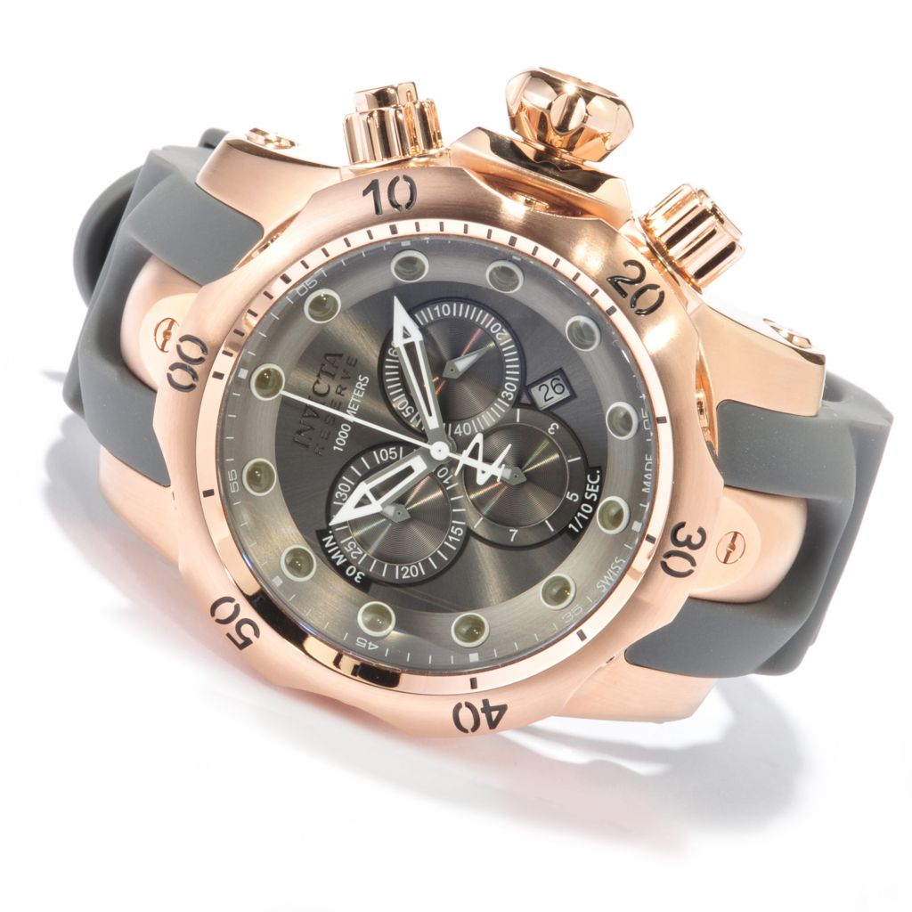 618-828 - Invicta Reserve Men's Venom Swiss Made Quartz Chronograph Stainless Steel Strap Watch
