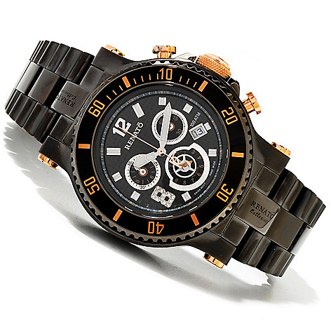 618-847 - Renato 45mm T-Rex Diver Limited Edition Swiss Quartz Chronograph Watch