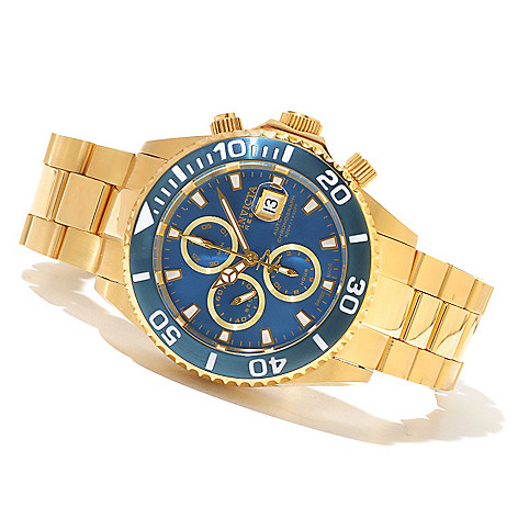 618-849 - Invicta Reserve Men's Pro Diver Swiss Made Valjoux 7750 Automatic Chronograph Bracelet Watch