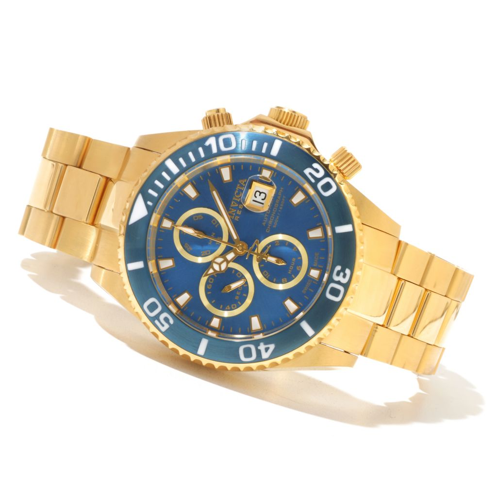 618-849 - Invicta Reserve 47mm Pro Diver Swiss Made Valjoux 7750 Automatic Chronograph Bracelet Watch
