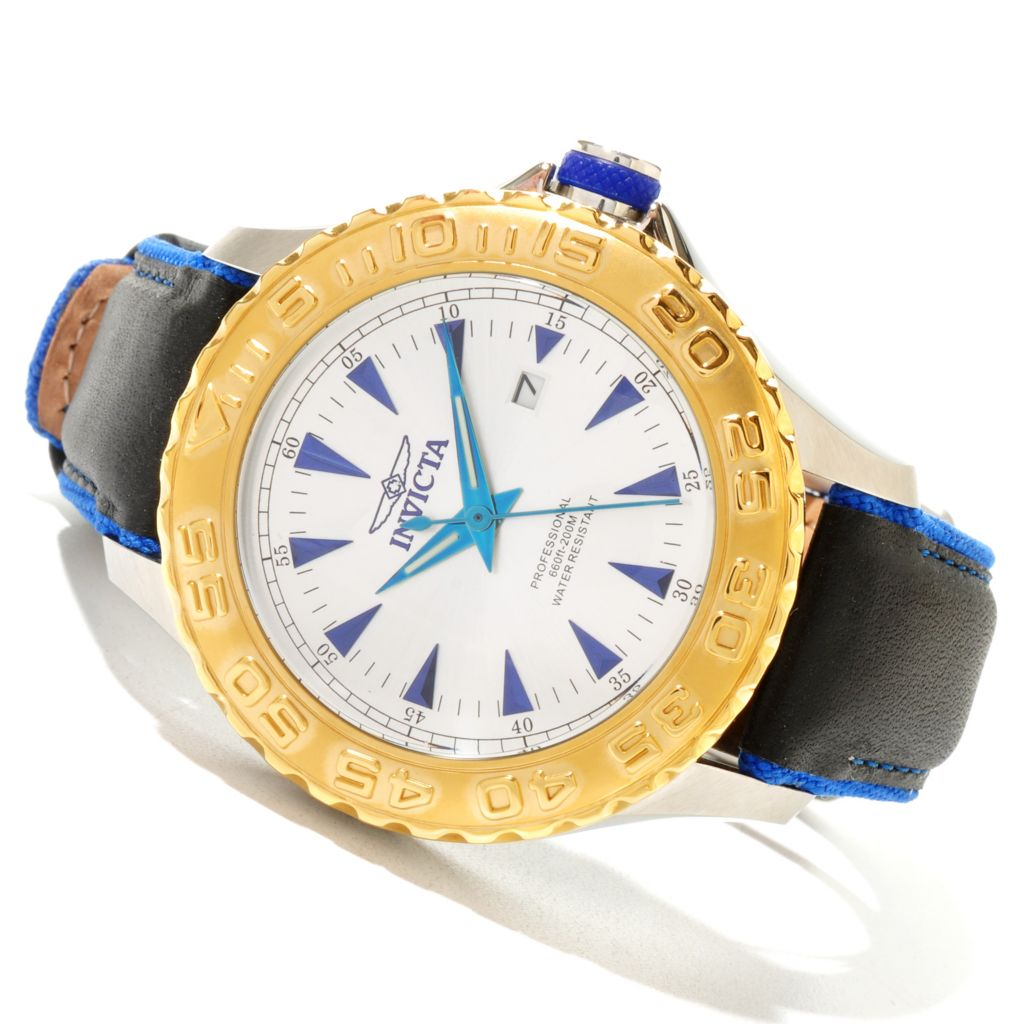 618-882 - Invicta Men's Pro Diver Ocean Ghost Quartz Stainless Steel Leather Strap Watch