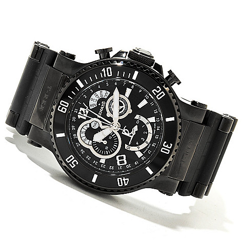 618-891 - Renato 50mm T-Rex Limited Edition Swiss Quartz Chronograph Rubber Strap Watch