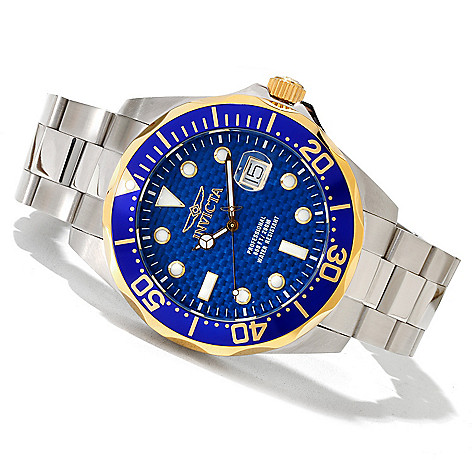 618-897 - Invicta 47mm Grand Diver Quartz Stainless Steel Bracelet Watch w/ Eight-Slot Dive Case