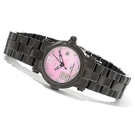 618-899 - Renato Women's Beauty Petite Limited Edition Swiss Quartz Diamond Accented Bracelet Watch