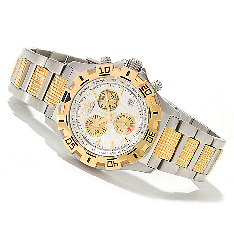 619-005 - Invicta Men's Racer Quartz Chronograph Stainless Steel Bracelet Watch
