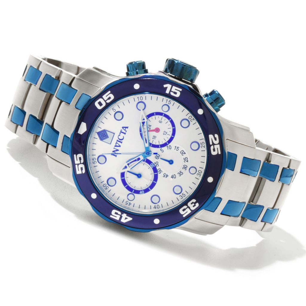 619-006 - Invicta Men's Pro Diver Scuba Quartz Chronograph Stainless Steel Bracelet Watch