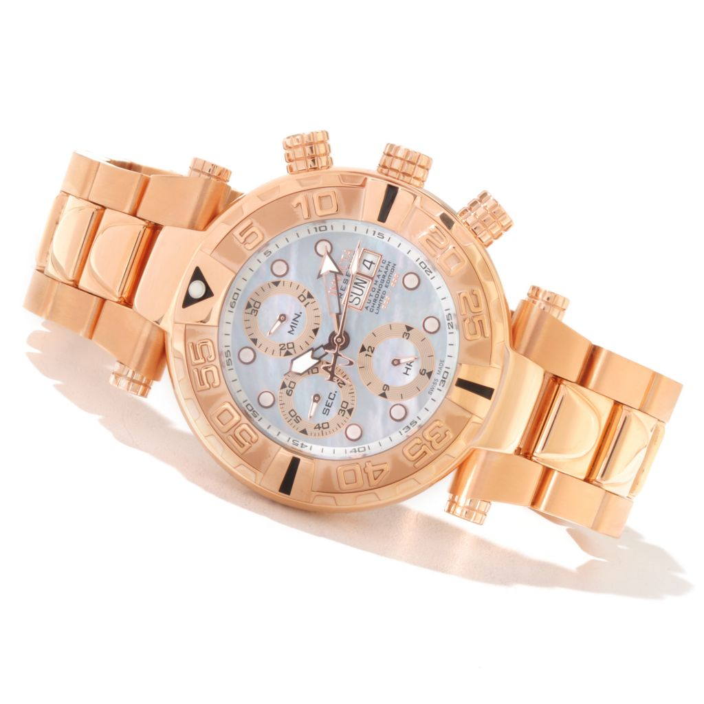 619-007 - Invicta Reserve 47mm Subaqua Noma I Limited Edition Valjoux 7750 Mother-of-Pearl Dial Bracelet Watch