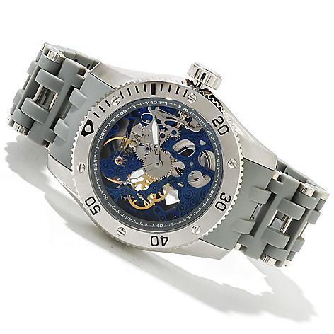 619-023 - Invicta 50mm Sea Spider Mechanical Bracelet Watch w/ Three-Slot Dive Case