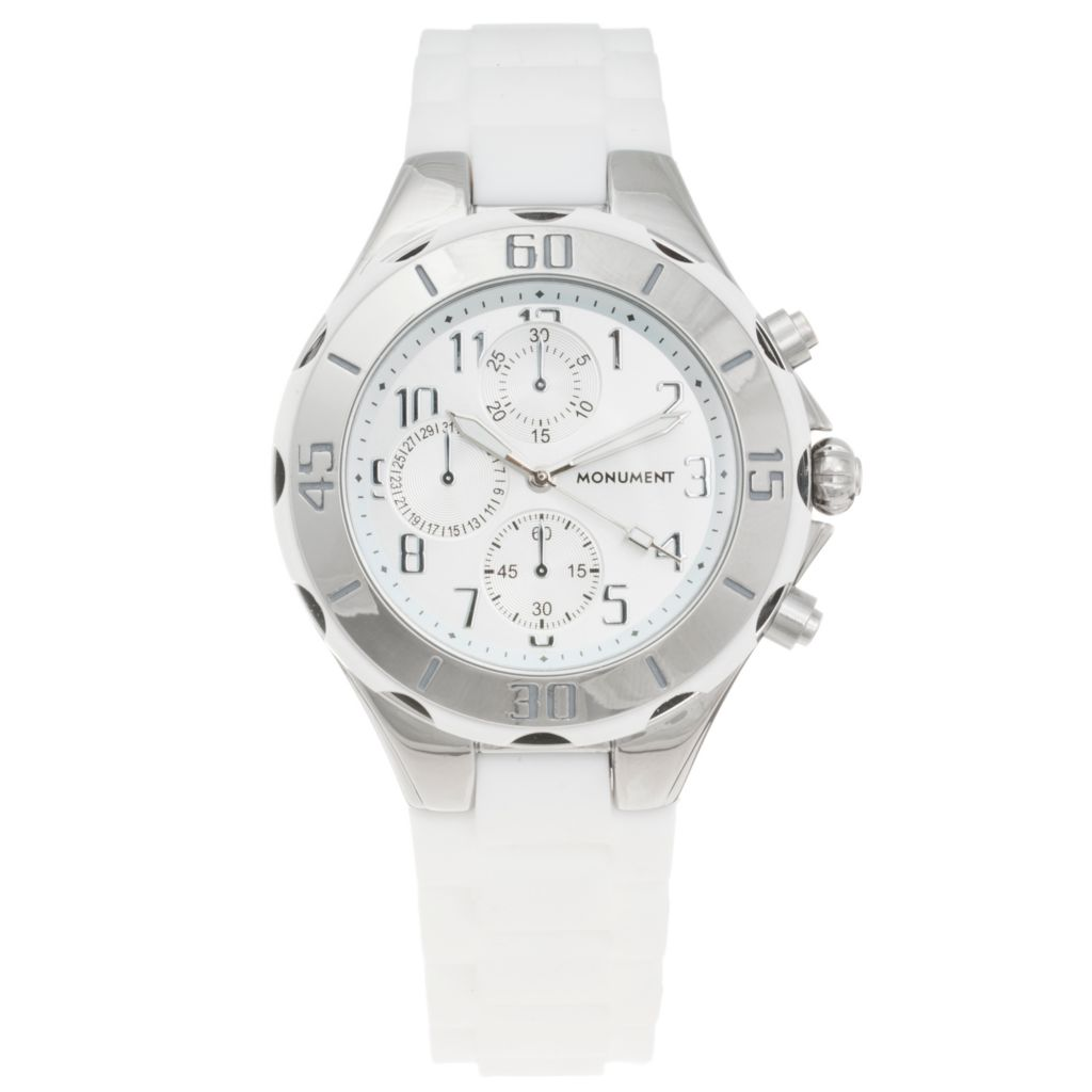 619-062 - Monument Women's Sporty Quartz Rubber Strap Watch