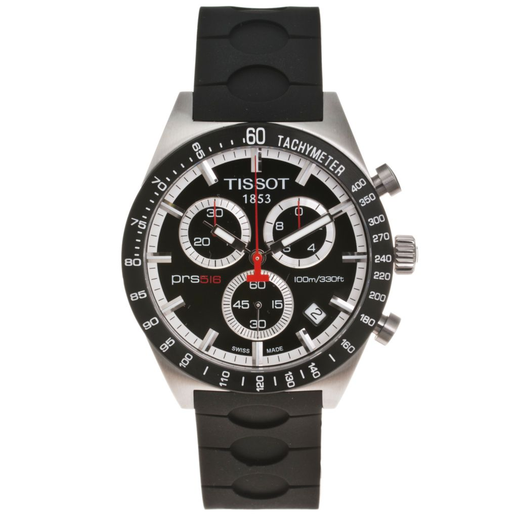 619-198 - Tissot Men's Swiss Made Quartz Chronograph Rubber Strap Watch
