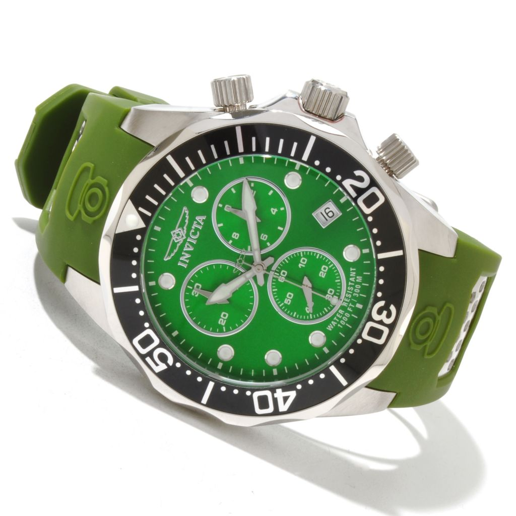 619-211 - Invicta Men's Grand Diver Swiss Quartz Chronograph Polyurethane Strap Watch