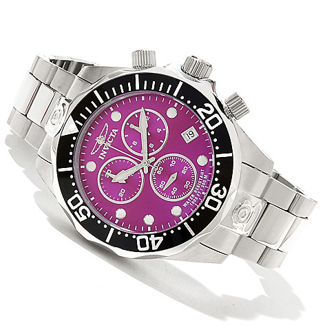 619-213 - Invicta Men's Grand Diver Swiss Made Quartz Chronograph Stainless Steel Bracelet Watch