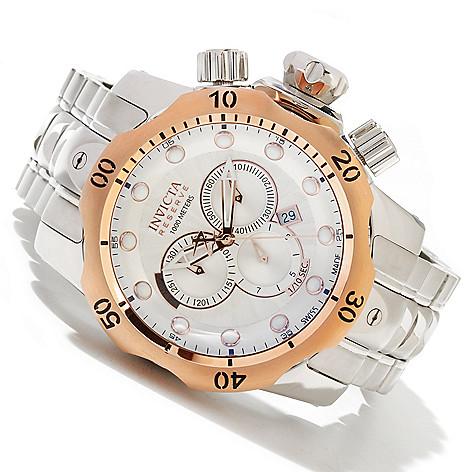 619-228 - Invicta Reserve 52mm Venom Swiss Made Quartz Chronograph Stainless Steel Bracelet Watch