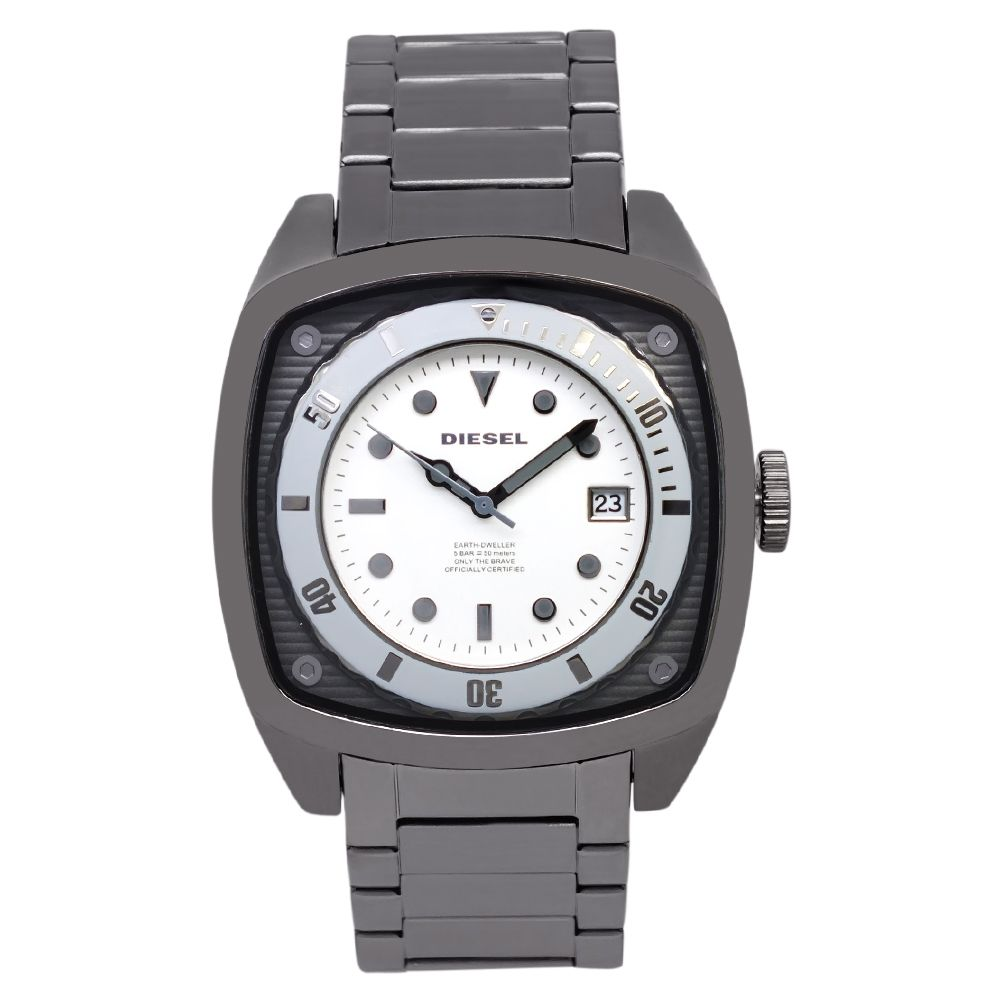 619-285 - Diesel 51mm Quartz Gunmetal Stainless Steel Bracelet Watch