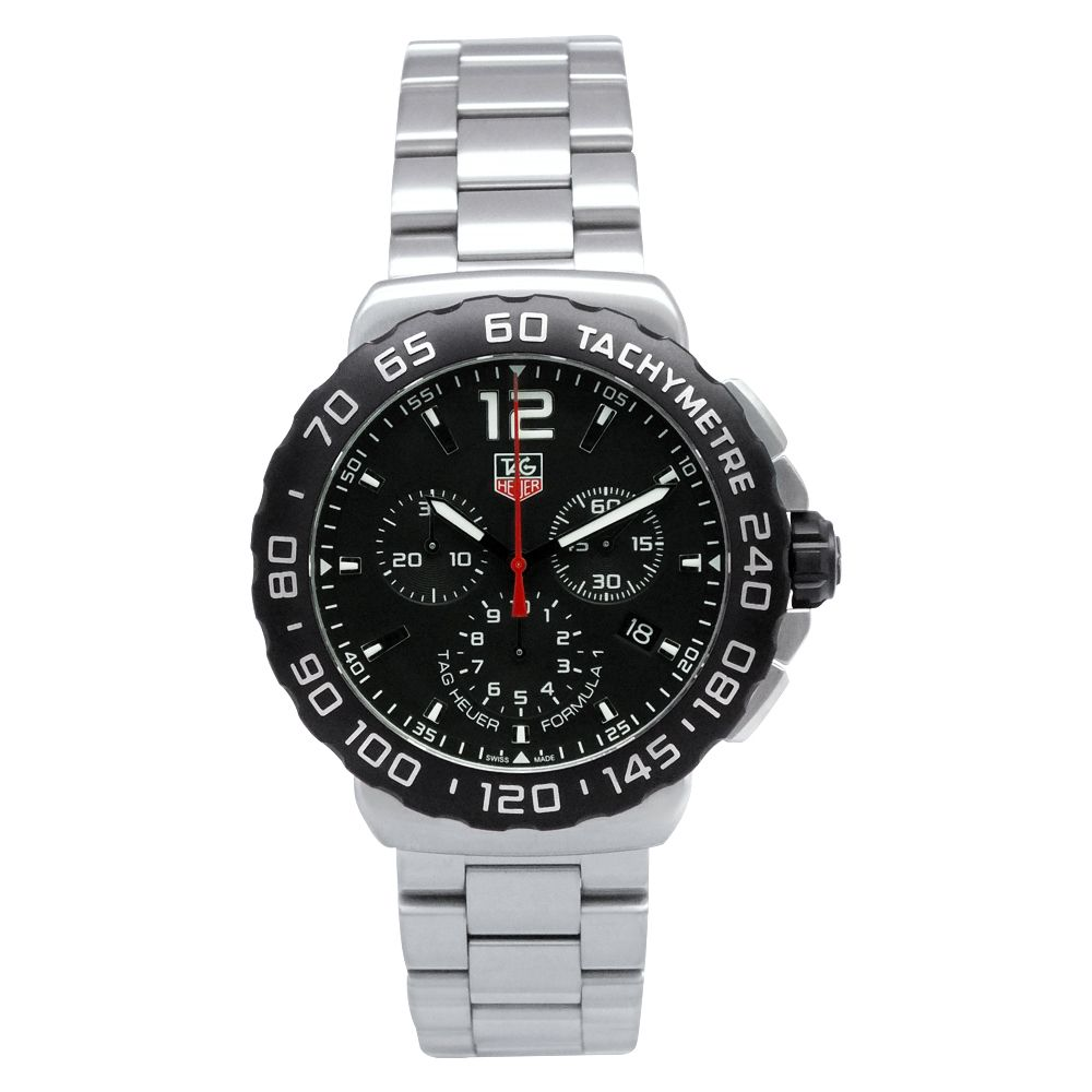 619-297 - Tag Heuer 42mm Formula 1 Swiss Made Quartz Chronograph Stainless Steel Bracelet Watch
