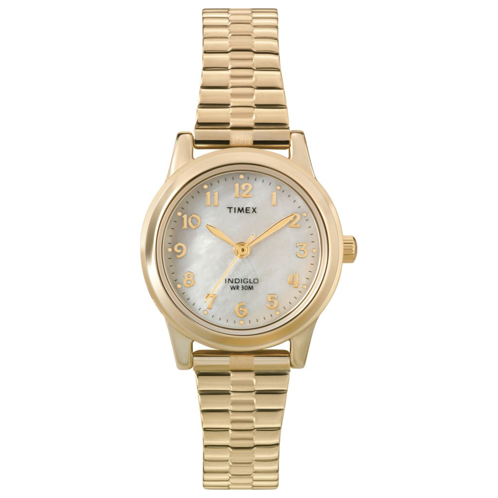 619-390 - Timex® Women's Quartz Gold-tone Stainless Steel Expansion Bracelet Watch