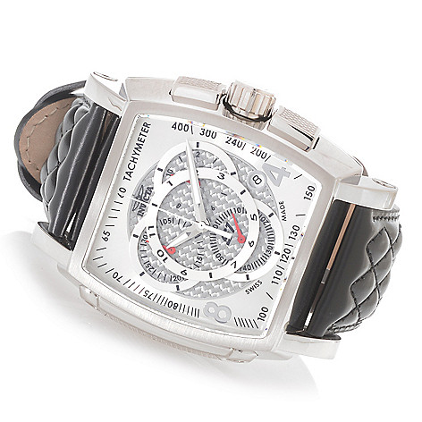 619-517 - Invicta Men's S1 Rally Swiss Made Quartz Chronograph Leather Strap Watch