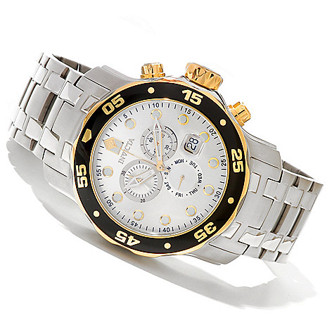 619-822 - Invicta Men's Pro Diver Scuba Quartz Chronograph Stainless Steel Bracelet Watch