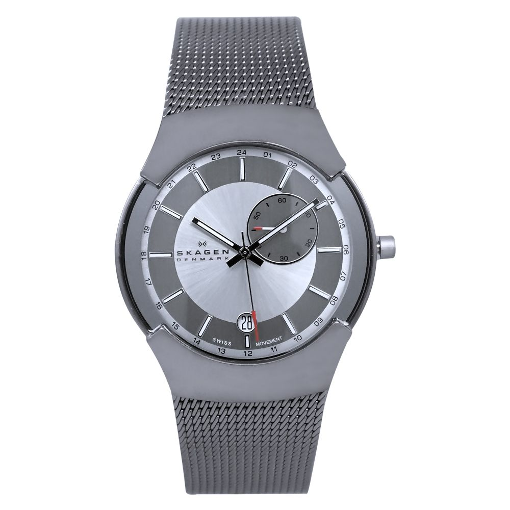 619-852 -  Skagen Men's Classic Quartz Stainless Steel Mesh Bracelet Watch