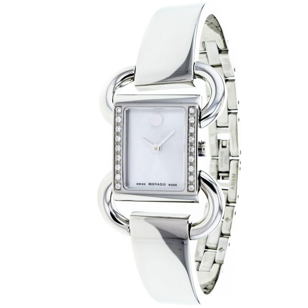 619-879 - Movado Women's Linio Swiss Made Quartz Stainless Steel Bracelet Watch
