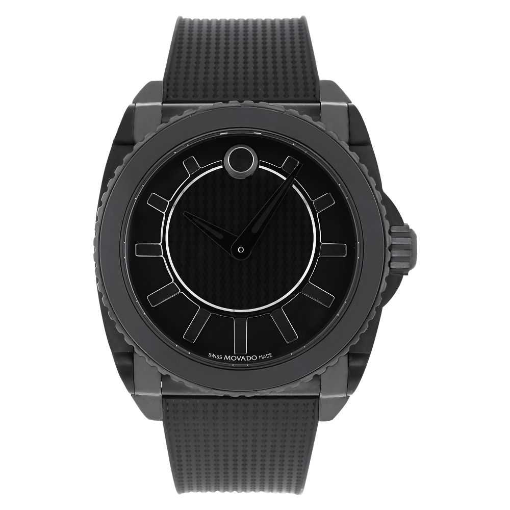 619-886 - Movado Men's Master Swiss Made Automatic Rubber Strap Watch