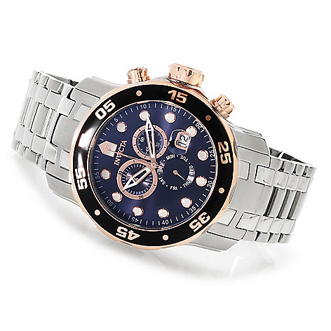 619-912 - Invicta Men's Pro Diver Quartz Chronograph Stainless Steel Bracelet Watch