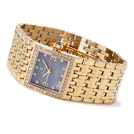 619-941 - Clara by CW Women's Quartz Bracelet Watch Made w/ Swarovski® Elements