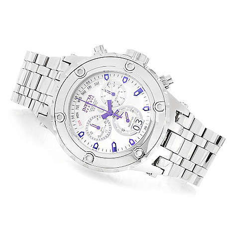 619-948 - Invicta Reserve 52mm Specialty Subaqua Swiss Made Quartz Chronograph High Polish Bracelet Watch