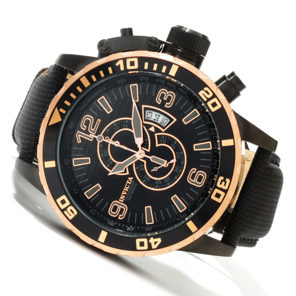 619-975 - Invicta Men's Corduba Quartz Chronograph Leather Strap Watch