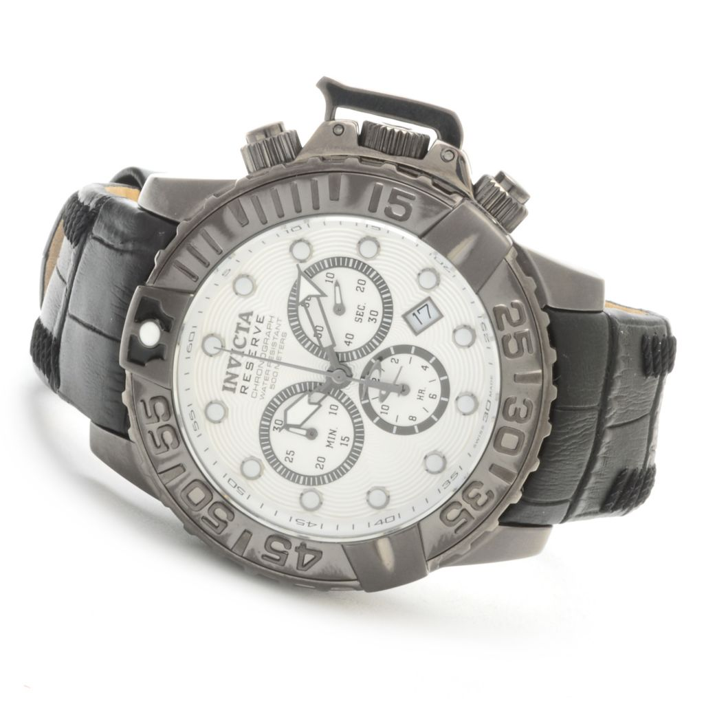 619-979 - Invicta Reserve 47mm Subaqua Noma II Limited Edition Swiss Chronograph Leather Strap Watch