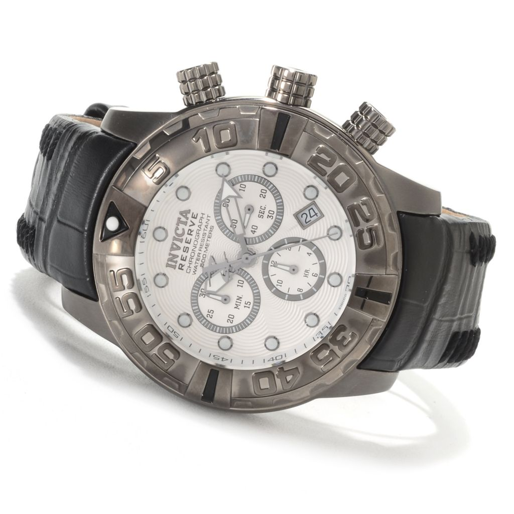 620-002 - Invicta Reserve Subaqua Noma I Limited Edition Swiss Chronograph Leather Strap Watch
