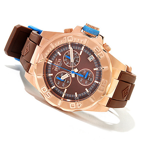 620-012 - Invicta 44mm Pro Diver Ocean Baron Swiss Quartz Chronograph Polyurethane Strap Watch