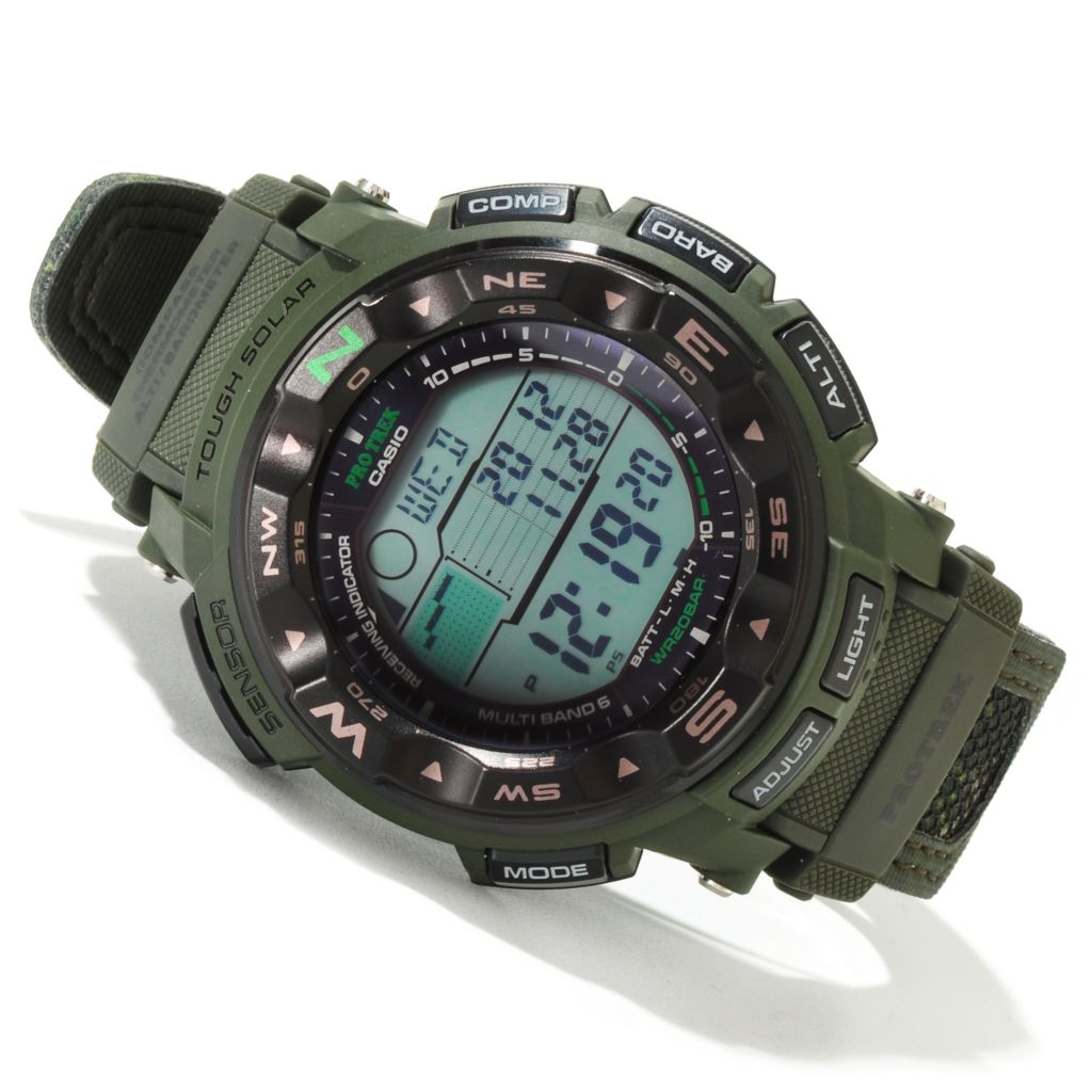 620-048 - Casio Men's Pro-Trek Solar Power Digital Alarm Strap Watch