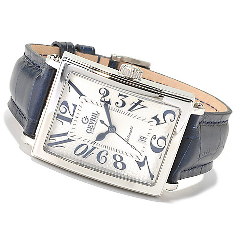 620-090 - Gevril Men's Avenue of Americas Limited Edition Swiss Made Automatic Leather Watch