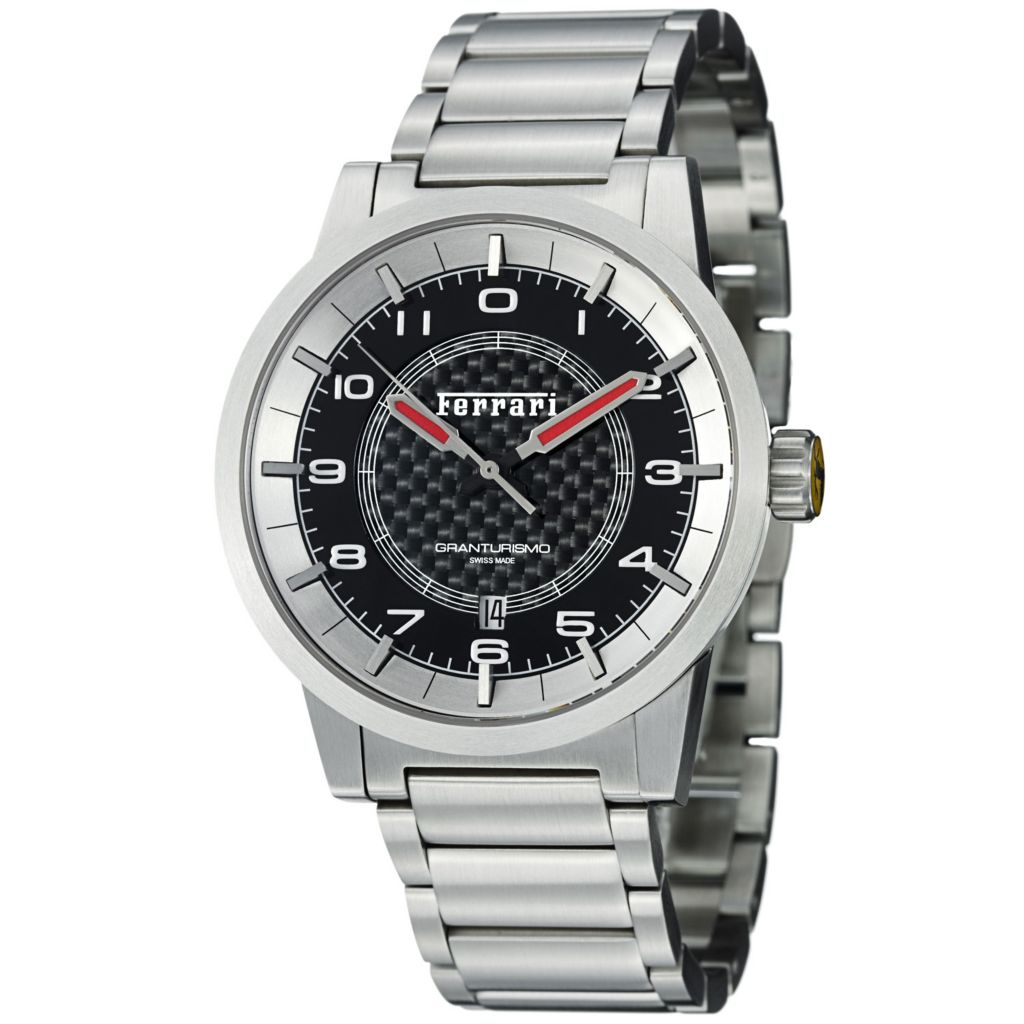 620-106 - Ferrari Men's Granturismo Swiss Made Automatic Stainless Steel Bracelet Watch