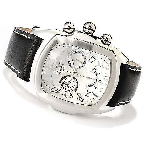 620-288 - Invicta Dragon Lupah Quartz Chronograph Stainless Steel Leather Strap Watch