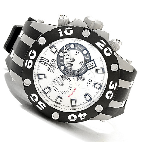 620-337 - Invicta Reserve 51mm Jason Taylor Specialty Subaqua Scuba Strap Watch w/ Three-Slot Dive Case