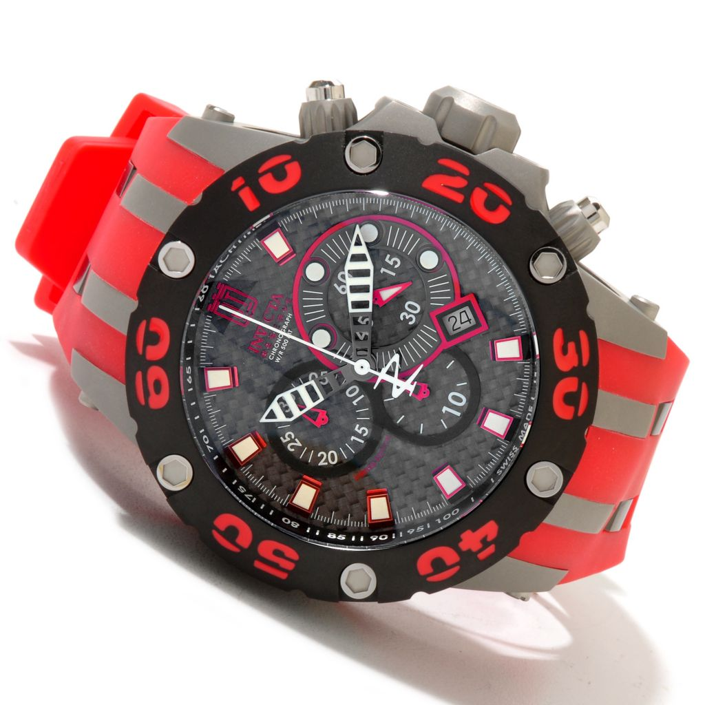 620-338 - Invicta Reserve 52mm Jason Taylor Specialty Subaqua Scuba Strap Watch w/ 3-Slot Dive Case