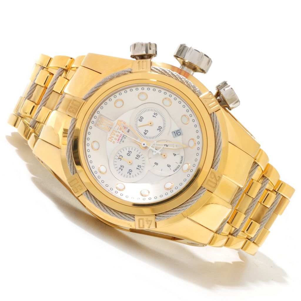 620-340 - Invicta Reserve 52mm Jason Taylor Bolt Zeus Limited Edition Swiss Made Watch w/ 3-Slot Dive Case
