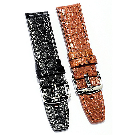 620-356 - Android Set of Two Interchangeable Alligator 24mm Straps